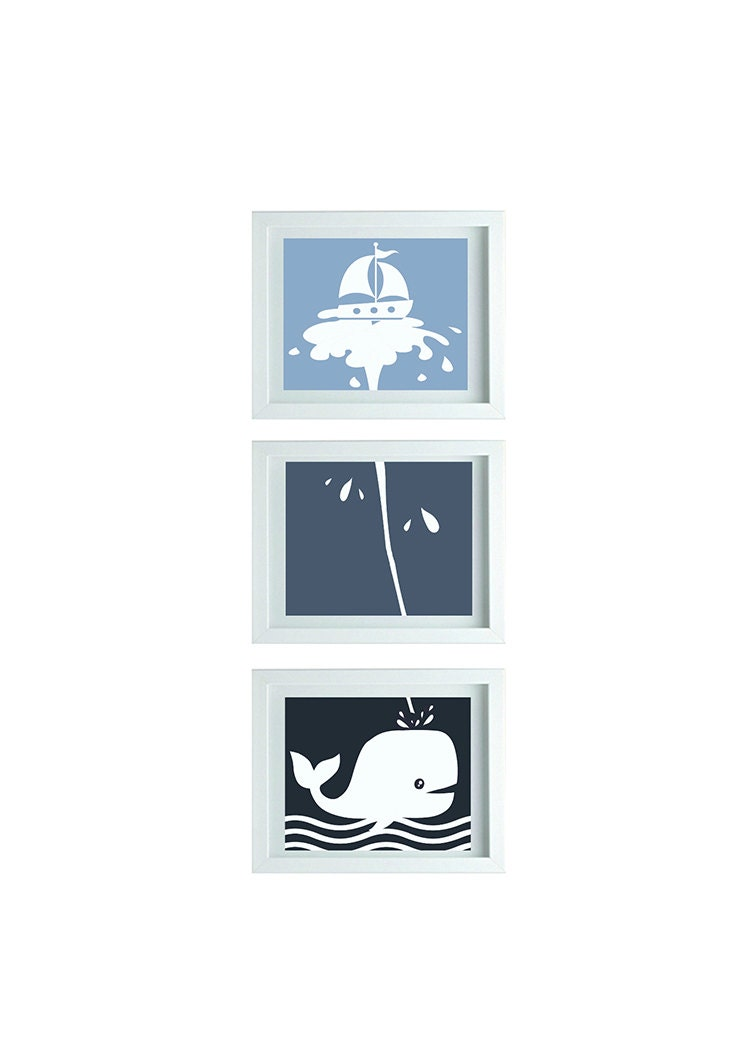 Https Www Etsy Com Ca Listing 212725003 Whale Theme Decor Whale Bathroom Art