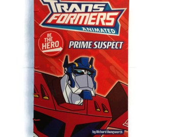 TRANSFORMERS | Journal | Book Cover | Notebook | Hand Stitched | Blank Book | Optimus Prime | Gift Idea |  Children's Book