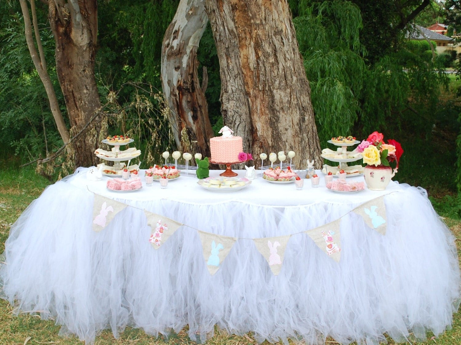 Tutu Table Skirt Candy Buffet Table Skirt Tulle Table Skirt