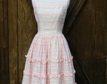 Vintage 50s Pink XS Dress
