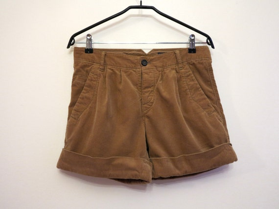 vintage marco polo shorts camel braun cord shorts damen. Black Bedroom Furniture Sets. Home Design Ideas
