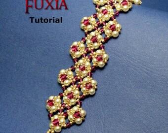 Tutorial Fuxia Bracelet - beading pattern