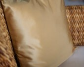 Gold Satin-like Pillow Cover - 18X18