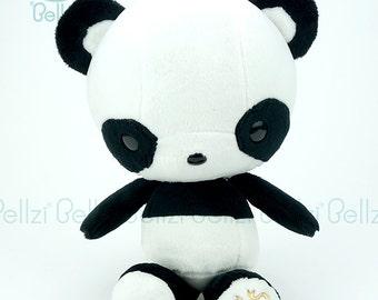 """Bellzi® Cute """"Black"""" White Contrast Panda Plushie Plush Toy Doll - Pandi"""