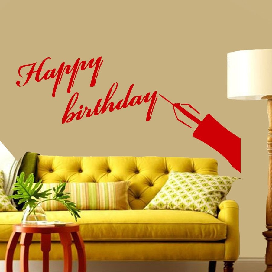 Happy Birthday Wall Decals - Elitflat