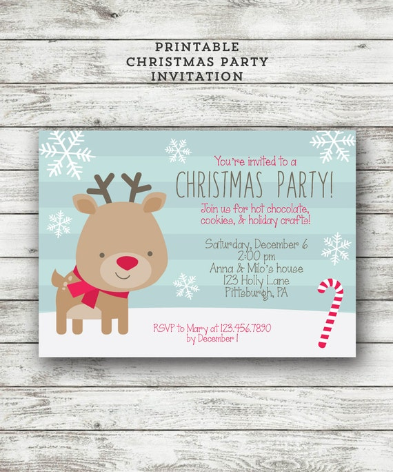 Items similar to Kids Christmas Party Invitation ...