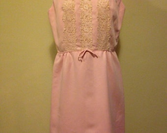 Pink 1960s Polyester Dress