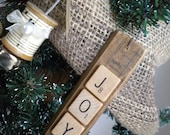 "Joy Word Ornament / Rustic ""Joy"" Ornament / Rustic Christmas Ornament / Rustic Tree / Rustic Christmas Tree Ornament / Natural Christmas"