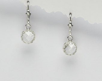 Angeline Quinn Vintage Inspired White Topaz Earrings