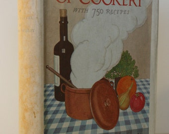 Cookery 1940s hardback Vintage cook book old recipies for cooking recipies old books