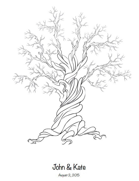 alternative canvas fingerprint tree wedding tree guest book