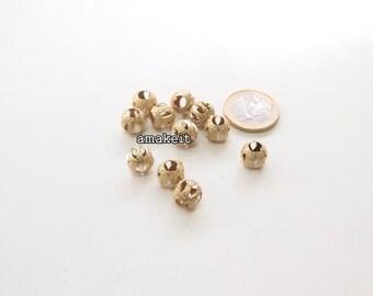 Round Stardust brass beads, 10mm, CF01635