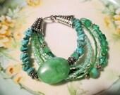Turquoise bracelet, boho chic bracelet, silver bracelet, summer trends, southwestern bracelet, beach style bracelet