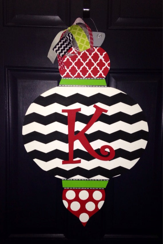 Christmas Ornament Wooden Door Hanger