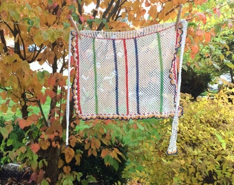 Colorful Crocheted Half Apron