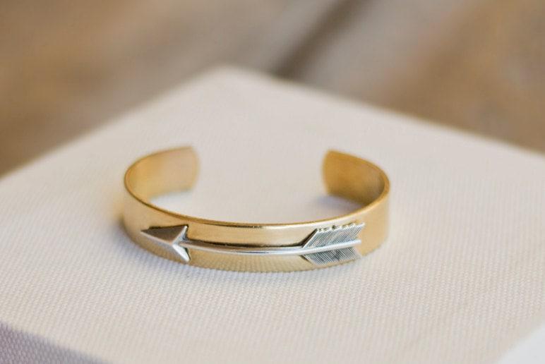 Arrow Bracelet, Arrow Cuff, Stack Bracelet, Cuff Bracelet, Arm Cuff, Brass Cuff, Arrow Bangle, Birthday Gift, Friendship Bracelet