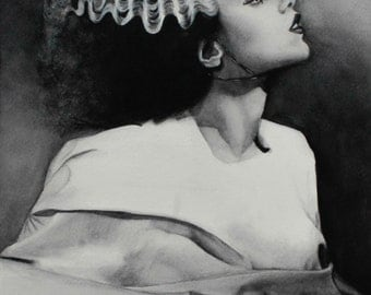 Bride of Frankenstein Watercolor
