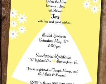 Simple Bridal Shower Invitation