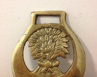 Vintage Wheat Sheaf Horse Brass