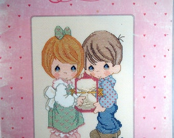 Precious Moments 15th Anniversary Edition Revised Vintage Cross Stitch Pattern Booklet 1993