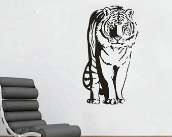 "Tiger Standing large Wall Decal 22""x39"""