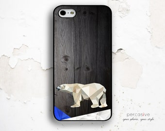 Polar Bear iPhone 6 Case - iPhone 5s Case, iPhone 6 Plus Case Bear, iPhone 5C Case, Wood Print iPhone 6 Cover, iPhone 6 Tough Case :0652