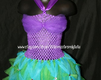 The Little Mermaid Inspired Tutu Dress, Little Mermaid Tutu Dress, Ariel Tutu Dress, Little Mermaid Dress, Mermaid Tutu, Ariel Costume
