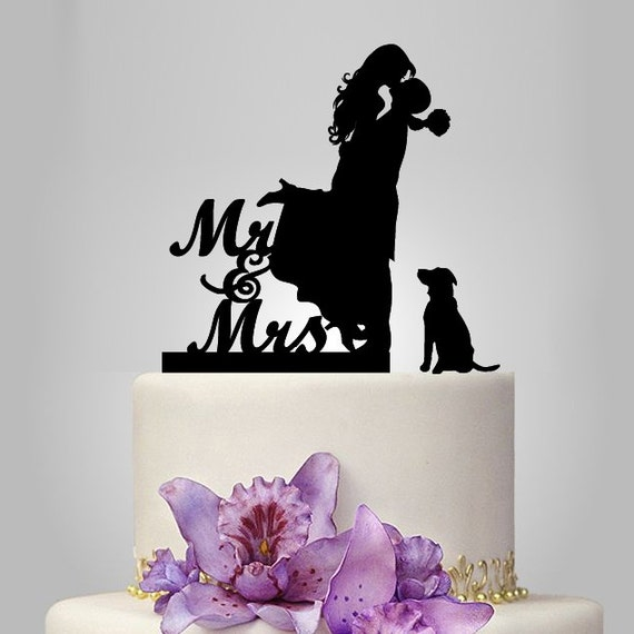 Mr And Mrs Wedding Cake Topper Bride And Groom By Walldecal76