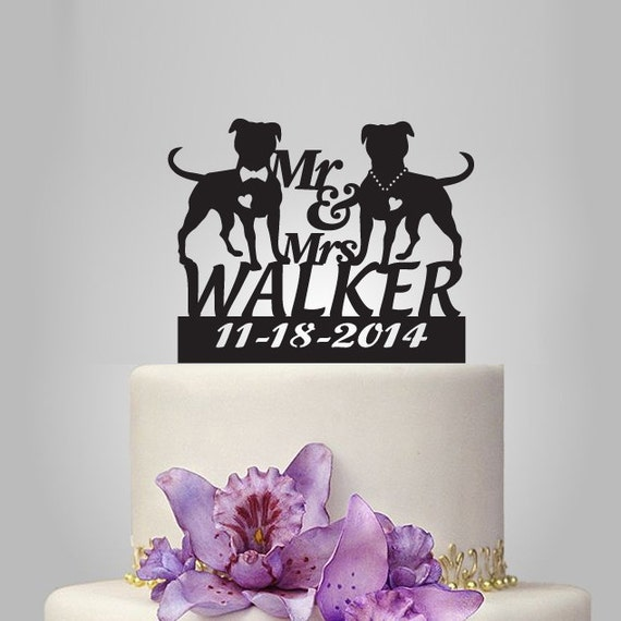 Funny Wedding Cake Topper Unique Mr And Mrs By Walldecal76 On Etsy