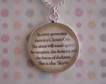 "Buffy The Vampire Slayer ""Chosen One"" Necklace"