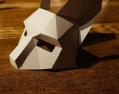 Make a Half Face Rabbit mask from recycled card