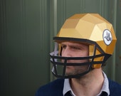 American Football Helmet - Make your own using a simple PDF download