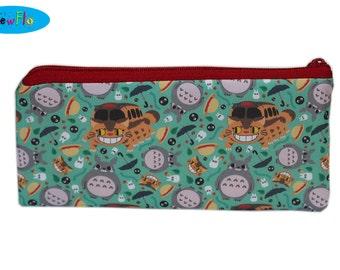 Pencil Case | Pencil Pouch | Pencil Holder | Zipper Bag | Zippered Pouch | Totoro Bag