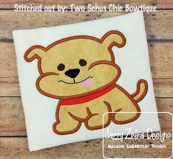 Doggy 56 Applique embroidery Design - dog Applique Design - puppy Applique Design - bull dog Applique Design - bulldog Applique Design