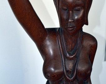 African Art, African Sculpture, Vintage African Art, African Statue, Afrocentric Art, Wood Carving