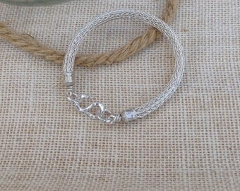 Men's Sterling Silver Viking Knit Bracelet