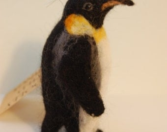 Penguin ornament - needle felted penguin decoration - Christmas tree decoration - Christmas penguin