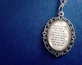 The Infernal Device's Inspired Quote Necklace