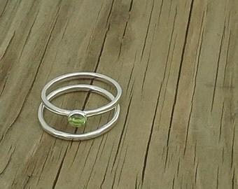 Peridot Stacker Ring Set