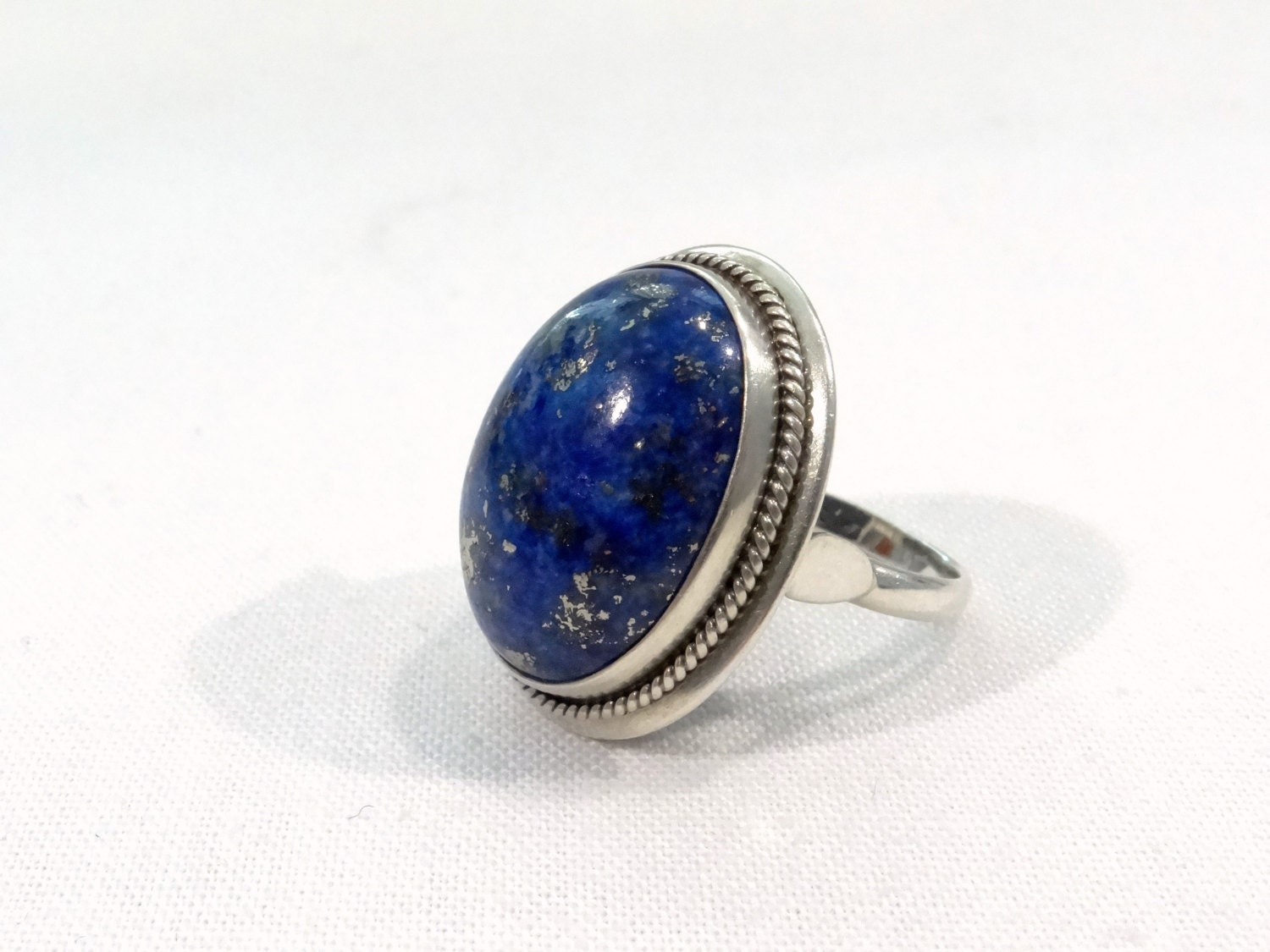 lapis lazuli sterling silver ring size 6 by