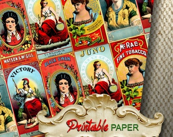VINTAGE ADV -  Printable wrapping paper for Scrapbooking, Creat - Download and Print