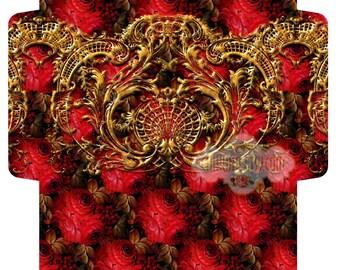 RED ROSEs - Printable Download Digital Collage Sheet Big Envelope - Print and Cut