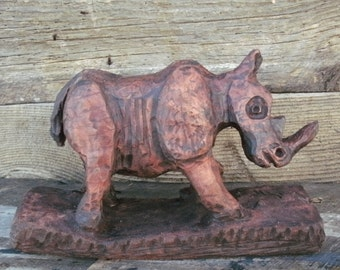 Young Rhino, A Sycamore Carving