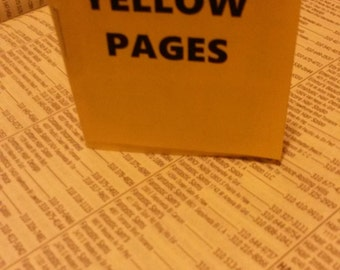 Yellow Pages Micro Zine by Kari Tervo