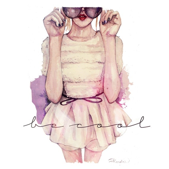 BE COOL,fashion illustration print