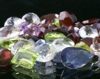 Amazing 25+ Carat Wholesale Mixed Faceted Gemstone Parcels, Free Shipping!