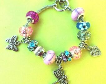 SALE ~ Whimsical Dragonfly European Style Bracelet