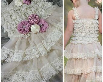TODDLER FLOWER GIRL Dress // Girls Birthday Party Dress // Wedding Dress // Flower Girls
