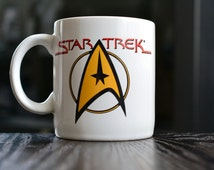 Vtg NOS ONE (1) Star Trek Mug Pfaltzgraff Ceramic Pottery Mug Delta Symbol Star Trek Delta Sheild Mug Star Trek Coffee Mug Star Trek Tea Cup