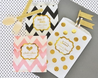Paper Candy Bags - Wedding Favor Candy Bags Wedding Candy Buffet Bags Wedding Favor Bags Bridal Shower Favor Bags 2| (EB2358FW) set of 24